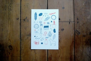 Image of In My Room Gocco Print