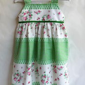 Image of 'Flower Sugar' Green Gingham Dress