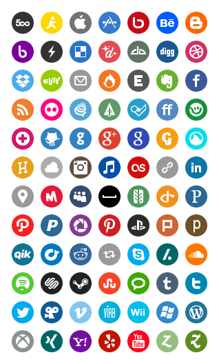 Image of Basic Social Media Icons