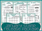 Image of January 2013 Stamp Release Package ~ Peachy