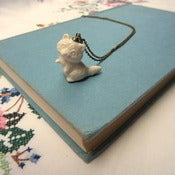 Image of 'Raccoon' Ceramic Necklace