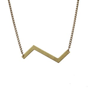 Image of Brass Zigzag Necklace