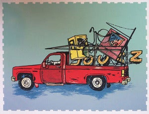 Image of Logan Square scrap truck collab print