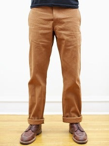 Image of Seconds: Miner Chinos: Cone Brown Selvedge, Cone Indigo Selvedge