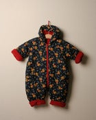 Image of c. 1980s teddy print snow suit