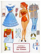 Image of Vintage Carnation Ice Cream Paper Doll