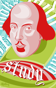 "Image of 11x17"" Shakespeare Says Study Poster"