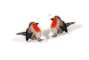 Image of Red Robin Earrings