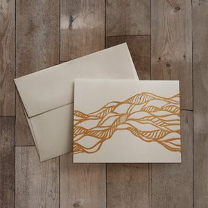 Image of TWISTED BLOCK PRINTED GREETING CARD