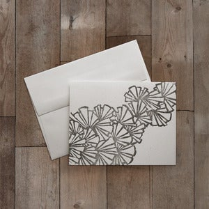 Image of SHELLS BLOCK PRINTED GREETING CARD
