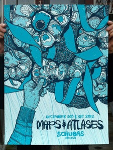 Image of Maps &amp; Atlases - Screenprinted Poster