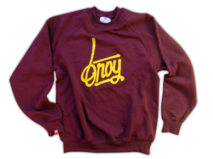Image of Handwriting Sweater Burgundy