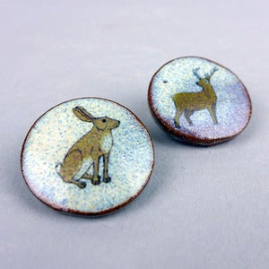 Image of Stag, Hare, Fox or Badger Brooch