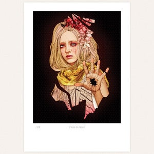 Image of 'I fall to pieces' print by lodie