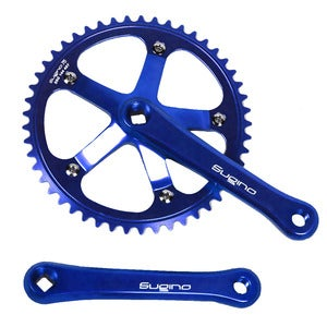 Image of Sugino 75 Track Crankset, Blue