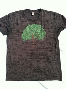 Image of dancing tree - men's burnout crew neck t-shirt - black