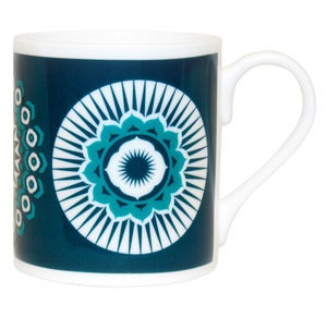 Image of Darjeeling Bone China Mug - Indigo