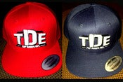 Image of TDE Snapbacks NOW Available in Red and Navy