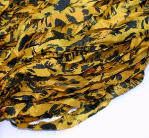 Image of Light Mustard Yellow: Jersey Girl Reclaimed Silk Ribbon
