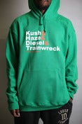 Image of Strains Hoodie GREEN Limited edition!!