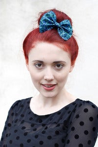 Image of Medium mermaid glitter bow clip