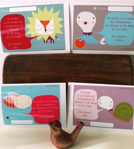 Image of Invitaciones cumple personalizables bocadillo-custom birthday cards 