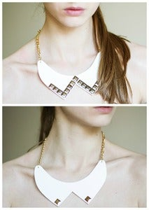 Image of studded collar necklace