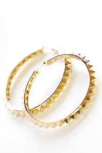 Image of studded hoop earrings