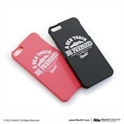 Image of Filter017 iPhone 5 Case-Pink & Black mountains logo