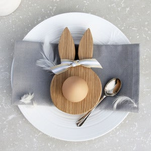 Image of Oak bunny ears egg cup