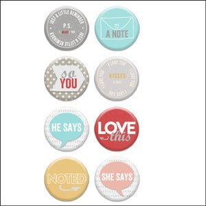 Image of love you lots v3 badge buttons