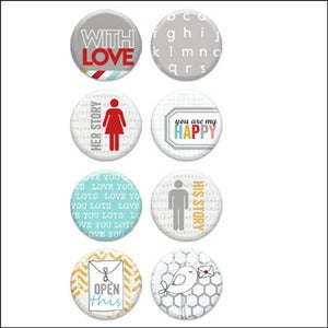 Image of love you lots v1 badge buttons