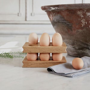 Image of Solid Oak Egg Rack (Pair)