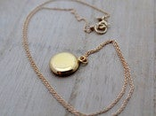 Image of Gold Filled Locket Necklace