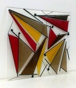 Image of Dancing sails glass art panel (60cm x 60cm)