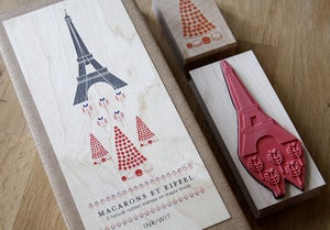 Image of SALE: Macaron de Eiffel Stamp Set