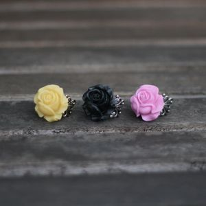 Image of Fluffy, Puffy Rose Adjustable Ring - 3 Colors
