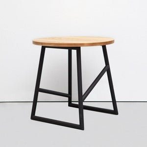 Image of Algedi Table, Black/Oak