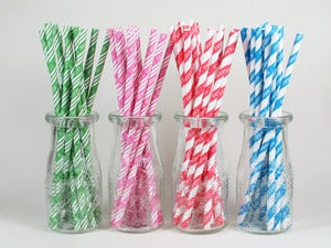 Image of NEW Patterned Paper Straws