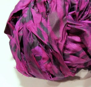 Image of Purple: Jersey Girl Reclaimed Silk Ribbon