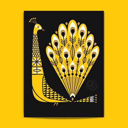 Image of Peacock-Yellow