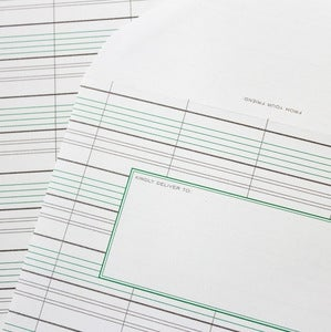 Image of Grey Ledger Stationery - Set of 20 sheets