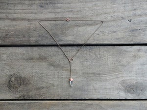 Image of OLIVIA'S LOVELY LARIAT - necklace (white quartz)