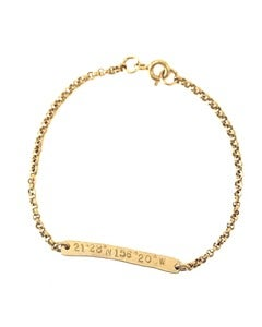 Image of Coordinate Bar Chain Bracelet