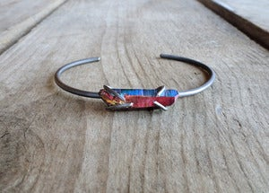 Image of ASTRID'S TREASURE - bangle (rainbow quartz)