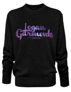 Image of Logan Garments Printed Crew Neck Jumper (BLACK)