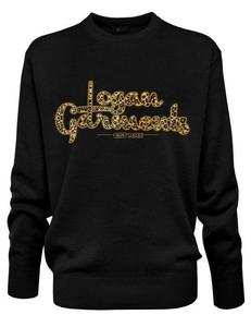 Image of Logan Garments Printed Crew Neck Jumper (BLACK LP)