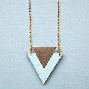 Image of Mint Triangle Necklace By Rachel Loves Bob