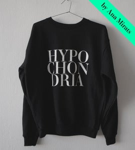 Image of HYPOCHONDRIA BLACK SWEATSHIRT