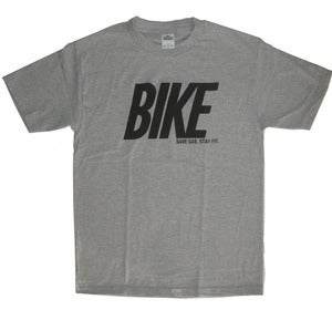 Image of Men's Bike save gas stay fit shirt